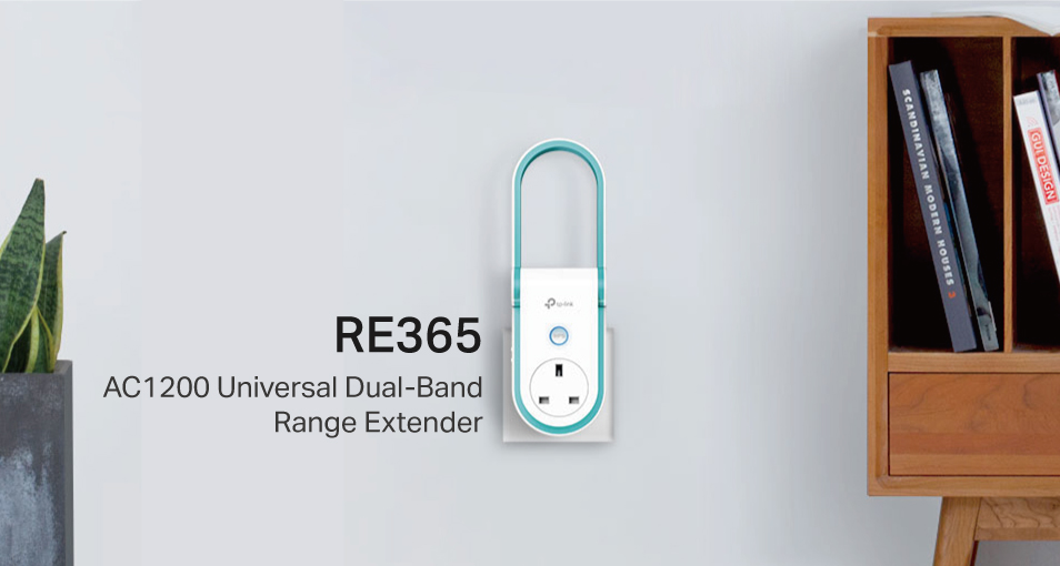 AC1200 WI-FI RANGE EXTENDER WITH AC PASSTHROUGH RE365